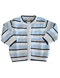 Kissy Kissy Baby-Boys Infant Bankers Blues KNIT Cardigan