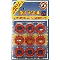 Schrödel 8020238 Spielzeug-Munition für 8-Schuss Spielzeugpistolen, 288 Schuss, Einheitsgröße