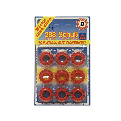 Schrödel 8020238 Spielzeug-Munition für 8-Schuss Spielzeugpistolen, 288 Schuss, Einheitsgröße Einheitsgröße
