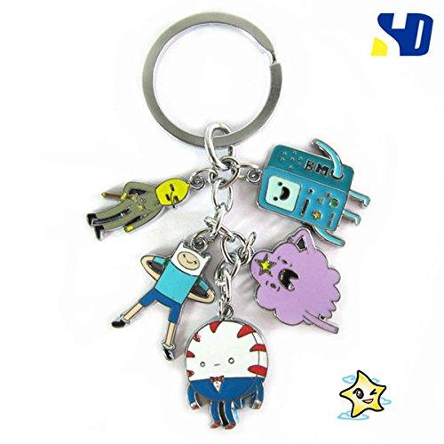 Top Combine® 5pcs Charm Keychain Cosplay Props Charaters Metal Strap Pendant (TC5KC-011)