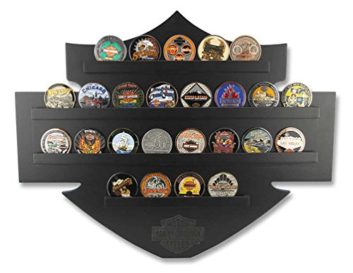 Used, Harley-Davidson Bar & Shield Wall Coin Display, Holds for sale  Delivered anywhere in USA