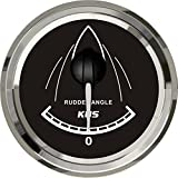 KUS Boat Rudder Angle Indicator Gauge Rudder Position Gauge 52mm 12/24V Black
