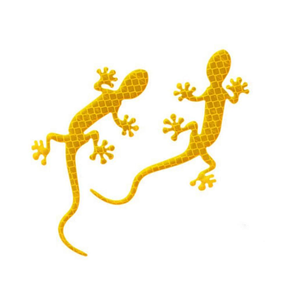 Poseca Universal 3D Car Reflective Strips Gecko Shape Warning Safety Reflector Sticker