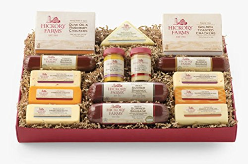 Hickory Farms Home For The Holidays Assortment Meat & Cheese Sampler (Hickory Farm Gift Baskets)