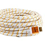 SHD HDMI Cable 40Feet 4kx2k Ultra 2.0V Support 3D,Ethernet,1080P Golden Color