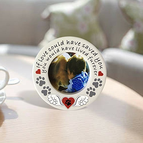 "BANBERRY DESIGNS Pet Memorial Photo Frame Desktop - If Love Could Have Saved You Frame with Easel Back - Loving Saying for Dog or Cat – 2"" Picture Opening"