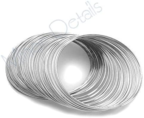 Memory wire 60 coils silver plated for bangle bracelet loops for jewellery