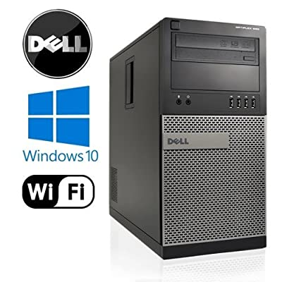 Dell Optiplex 990 Tower High Performance Business Desktop Computer, Intel Quad Core i5 up to 3.4GHz Processor, 8GB RAM, 2TB HDD, DVD, WiFi, Windows 10 Pro 64 Bit(Certified Refurbished)