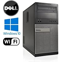 Dell Optiplex 990 Tower High Performance Business Desktop Computer, Intel Quad Core i5 up to 3.4GHz Processor, 8GB RAM, 2TB HDD, DVD, WiFi, Windows 10 Pro 64 Bit(Certified Refurbished)