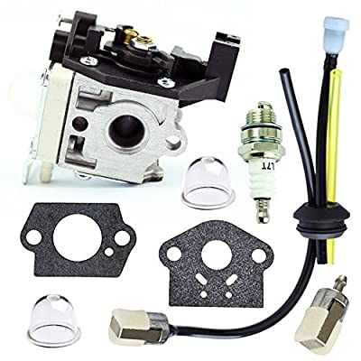 QAZAKY Carburetor with Fuel Filter Maintenance Kit Spark Plug for Zama RB-K92 RB-K92A Echo Shindaiwa HCR-161ES HRC-171ES HC152 DH232 DH235 HT232 Hedge Trimmer A021001671 A021001672 A021001673 Carb
