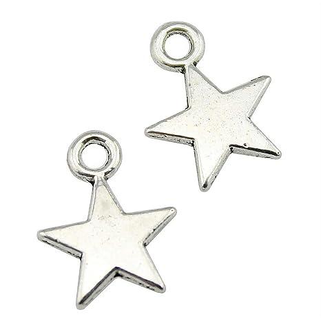 e001da693c39 NEWME 150 unids 11x8mm estrella pequeña Charms Colgante Para DIY  Fabricación de Joyas Al Por Mayor