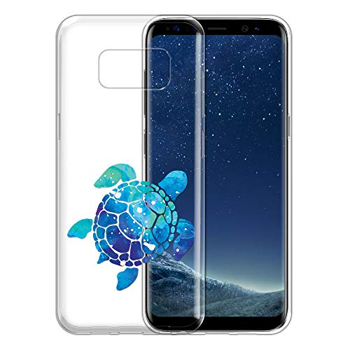 - FINCIBO Case Compatible with Samsung Galaxy S8 G950 5.8 inch, Clear Transparent TPU Silicone Protector Case Cover Soft Gel Skin For Galaxy S8 (NOT FIT S8+ PLUS) - Blue Sea Turtle