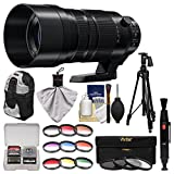 panasonic 100 - Panasonic Lumix G Vario 100-400mm f/4.0-6.3 Power OIS Zoom Lens with 3 UV/CPL/ND8 & 9 Colored Filters + Backpack + Tripod + Kit