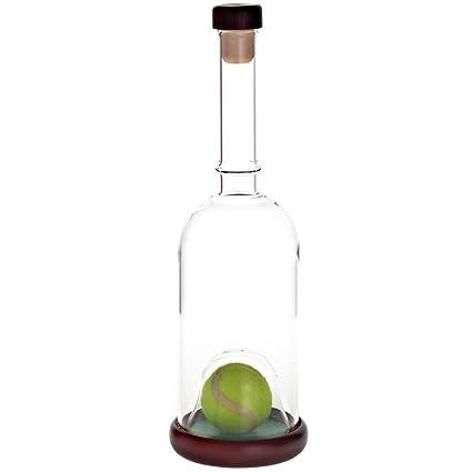 """Caja de regalo de la botella con diseño de corcho """"raquetas de tenis"""""""