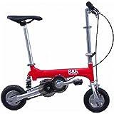 Bag&bike(バッグアンドバイク)ノーパンクタイヤ 発泡エラストマーマイクロエアコア(e-コア)を使用 携帯折り畳み自転車 NP08050Rオールアルミフレーム専用輪行バッグ付き