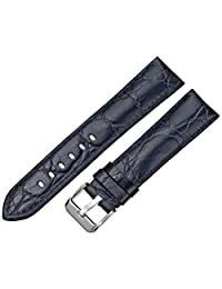 Tech Swiss LEA333-20SS 20mm Leather Calfskin Blue Watch Strap