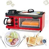 DWLXSH 3-en-1 Multifunción Desayuno Máquina - Tostadora Horno ...