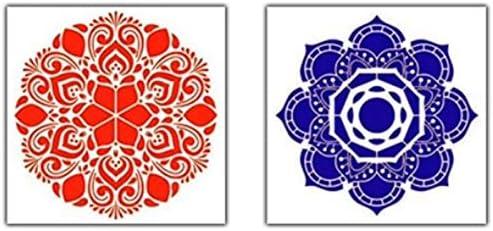 PQZATX Lot de 26 moules /à peinture en argile faits /à la main pour art poterie en relief Mandala multifonction Cadeau DIY Embellissement Outil de bricolage