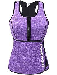 Neoprene Sauna Suit Tank Top Vest With Adjustable Waist Trimmer Belt (See The Size Chart)