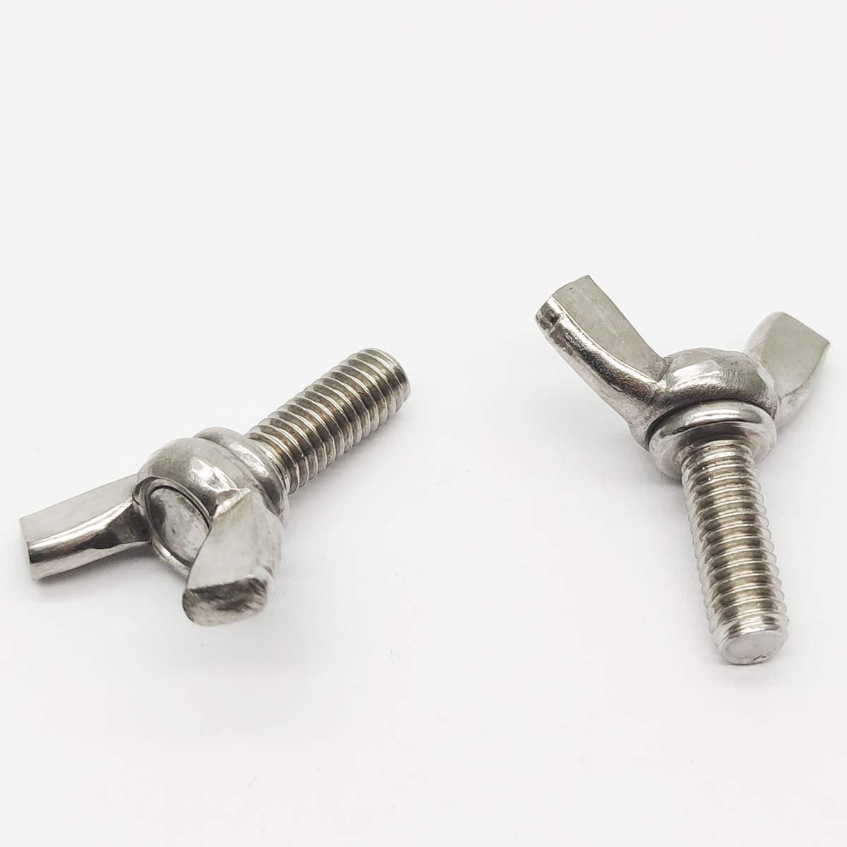 Wing Bolt Wing Screw Stainless Steel Butterfly Bolt Screw Thumb Hand Screws 10pcs M6-1.0x16mm