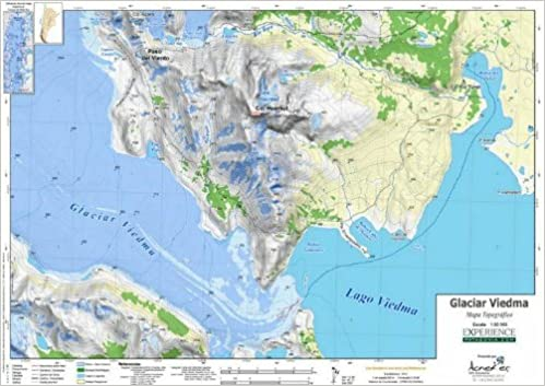 Topographical Map Of Spain.Glacier Viedma 1 50 000 Topographic Map Spanish Edition Aoneker