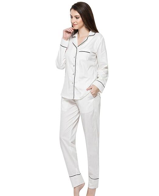 Jitong Mujer Conjunto de Pijama Botones Camison de Dormir Mangas y Pantalones Largos: Amazon.es: Ropa y accesorios