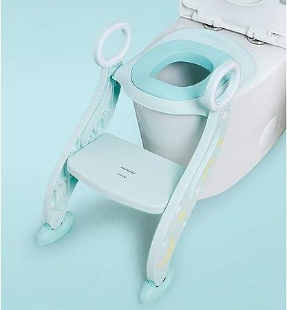 LLRDIAN Lavabos para Inodoro para niños Aseo para el Inodoro Escalera para niños Silla para Sentarse Hombre niña Escalera Tipo Plegable Antideslizante (Color : Verde): Amazon.es: Hogar