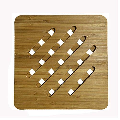 Lovely Moso Bamboo Place Mat/ Cup Mat/ Pot Holder, Set of 4