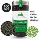 Gynostemma Tea – Organic Jiaogulan Loose Leaf Tea - Exclusive for Amazon Fresh Production in Every Months - no Stock - Freshest Directly from Thailand Farm - Caffeine-Free Eternal Life Herb - 3.52 oz