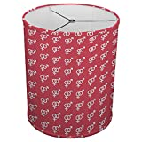 Hardback Linen Drum Cylinder Lamp Shade 8'' x 8'' x 8'' Spider Construction [ Man Woman Sign ]