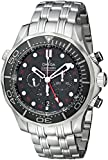 Omega Men's 21230445201001 Seamaster Analog Display Automatic Self Wind Silver Watch
