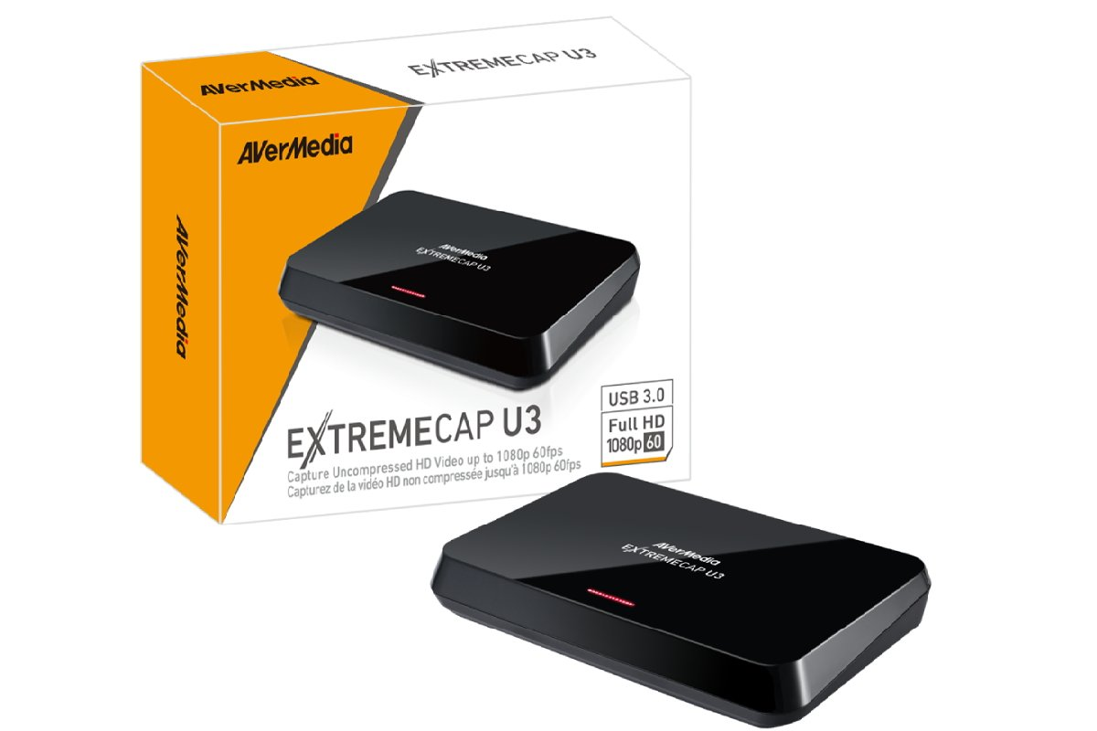 AVerMedia ExtremeCap U3, Full HD USB Video Capture Card, High Definition 1080p 60fps Recorder, Ultra Low Latency, Win 10 (CV710)