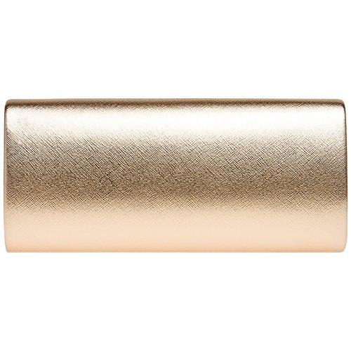Oro Pochette Busta Donna Rosa Elegante Metallizzata CASPAR TA420 a q0TEwWaF