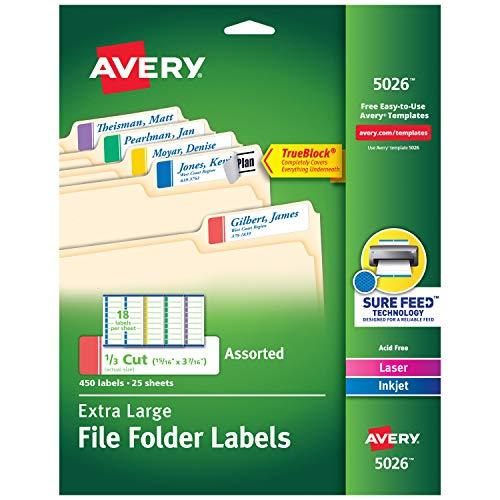 Colored File Folder Labels - 5
