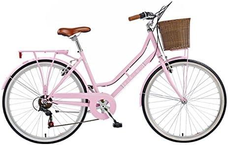 Viking Belgravia 2014 - Bicicleta de paseo clásica para mujer (6 velocidades), color rosa rosa rosa Talla:16 pulgadas: Amazon.es: Deportes y aire libre