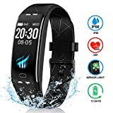 Fitness Tracker IYOUND Activity Tracker Color Screen Heart Rate Sleep Monitor IP68 Waterproof