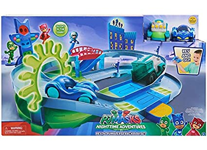 PJ MASK NIGHTTIME ADVENTURES REV N RUMBLERS TRACK PLAYSET
