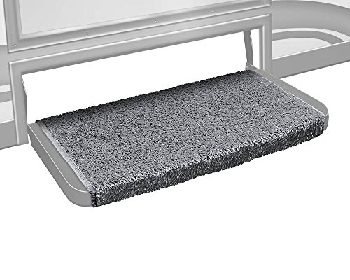 Prest-O-Fit 2-1073 Wraparound + Plus RV Step Rug Stone Gray 20 In. Wide by Prest-O-Fit