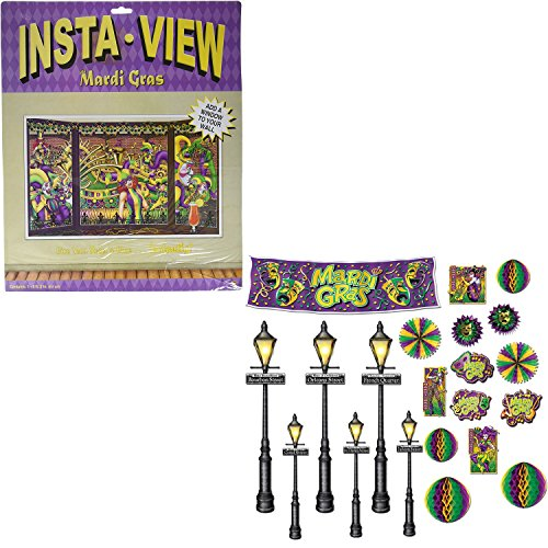 beistle-mardi-gras-decor-set-featuring-38x62-inch-wall-cover-mardi-gras-decor-and-street-light-prop-