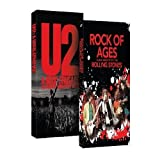 Rock of Ages the Rolling Stones Story , U2 A Rock Crusade : Biography 2 Pack Gift Set