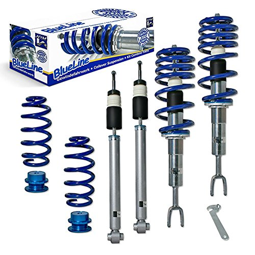 JOM Euro Height Adjustable Coilover Suspension Lowering Kit For Audi A4 B6 B7 8E 8H - Adjustable 15-90mm / 0.6