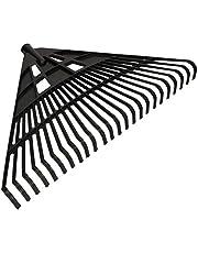 KOTARBAU® Robuuste hark 610 mm bladbezem bladhark waaierbezem bladveger bladveger bladwaaiers bladbreker van kunststof zwart zonder steel