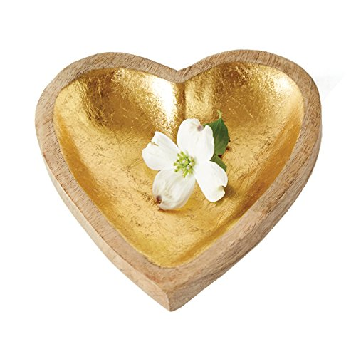 Creative Co-Op DA6467 Collected Notions Wood Heart Tray