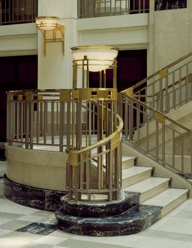 24 x 36 Giclee print of Staircase in the Homer Building an office building near Metro Center in Washington D.C. r70 [between 1980 and 2006] by Highsmith, Carol - Metro Centre Dc