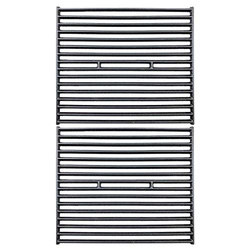(Uniflasy Cast Iron Grill Cooking Grates Replacement Parts for Broil King 945584, 945587, Huntington, Silver Chef, Sterling and Broil-Mate 115554, 115557 Gas Grill Models, Set of)