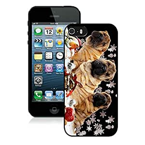 Individualization Iphone 5S Protective Cover Case Christmas Dog iPhone 5 5S TPU Case 5 Black