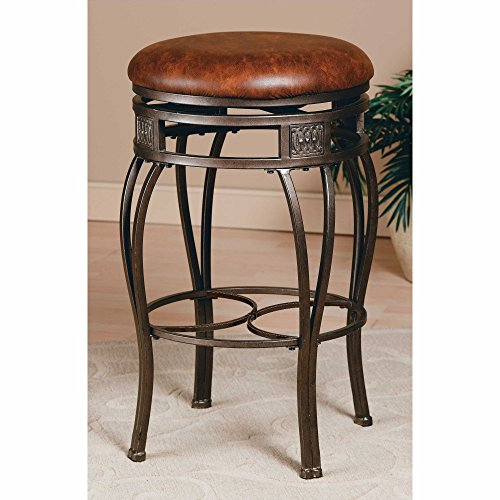 Hillsdale Furniture Montello Old Steel Backless Swivel Counter Stool