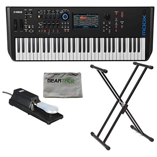 Yamaha MODX6 61-Key Semi-Weighted Synthesizer Keyboard w/Sustain Pedal, Cleanin