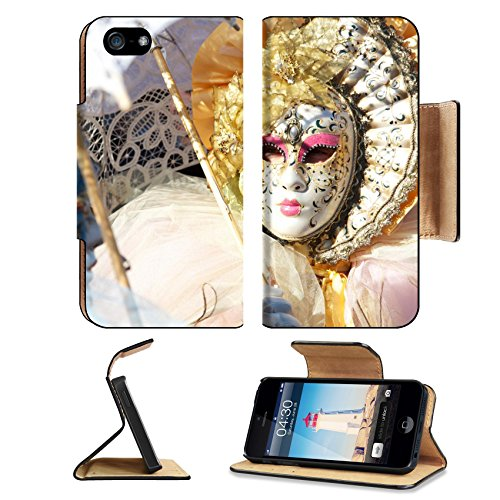Luxlady Premium Apple iPhone 5 iphone 5S Flip Pu Leather Wallet Case iPhone5 IMAGE ID: 27531354 carnival mask - Costume Carnevale Originale