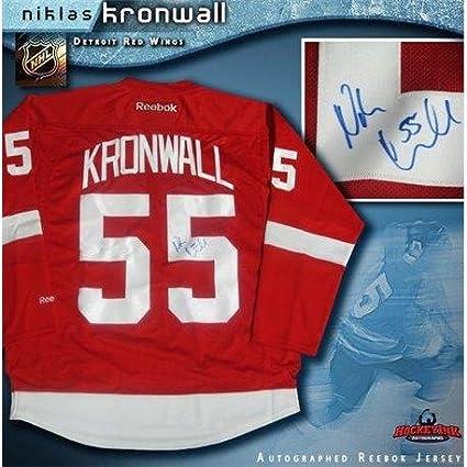 49f62b967 Autographed Niklas Kronwall Jersey - Reg Reebok - Autographed NHL ...